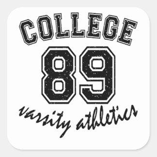 college design cute square sticker
