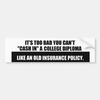 College Diploma sticker