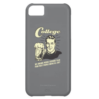 College: Drink More Before 9 AM iPhone 5C Case