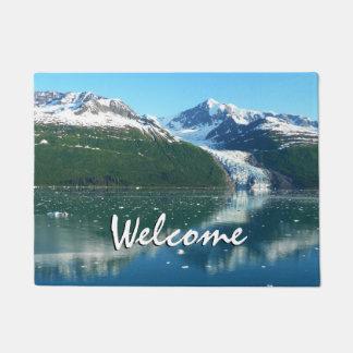 College Fjord I Beautiful Alaska Photography Doormat