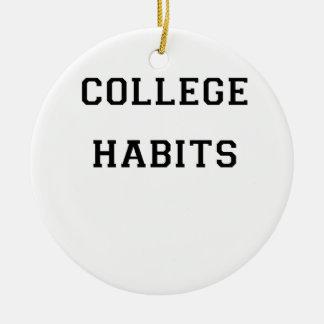 College Habits Round Ceramic Decoration