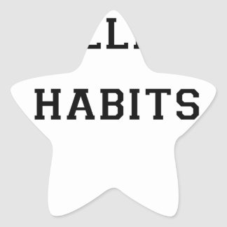 College Habits Star Sticker