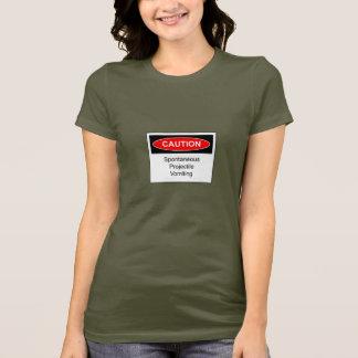 College Humor Projectile Vomiting Ladies T-shirt