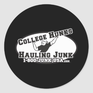 College Hunks Hauling Junk Black and White Round Stickers
