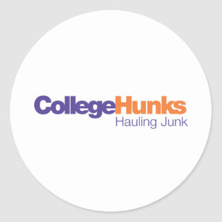 College Hunks Hauling Junk Round Stickers