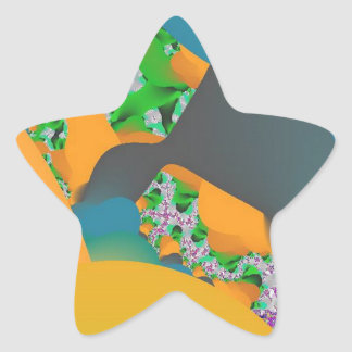 College Math Book! Fractal Art Creation Star Sticker