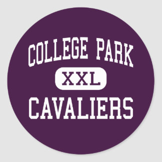 College Park - Cavaliers - High - The Woodlands Classic Round Sticker
