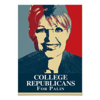 COLLEGE REPUBLICANS FOR PALIN POSTER