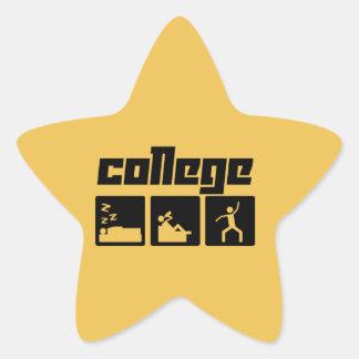 College Star Sticker