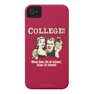 College: What Goes On School Stays iPhone 4 Case-Mate Cases