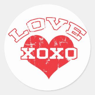 Collegiate Love Valentine's Day Classic Round Sticker