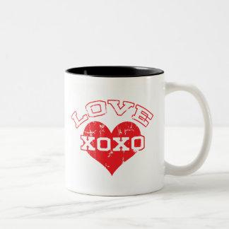 Collegiate Love Valentine's Day Two-Tone Coffee Mug