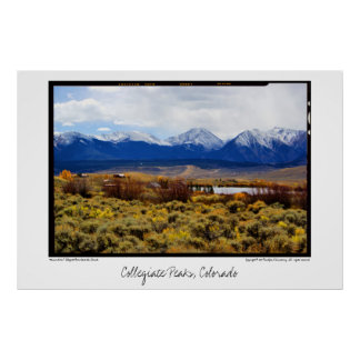 Collegiate Peaks, Colorado Poster