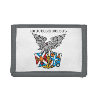 Collegio Armeno Gray TriFold Nylon Wallet
