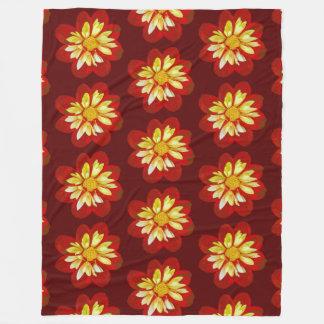 Collerette Dahlia - Fleece Blanket (L)