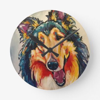 COLLIE 3 ROUND CLOCK