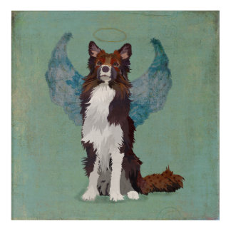 COLLIE ANGEL ACRYLIC WALL ART
