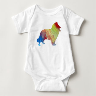 Collie Art Baby Bodysuit