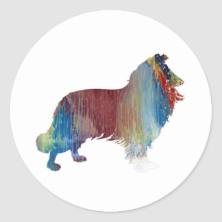 Collie Art Classic Round Sticker