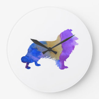 Collie Art Large Clock