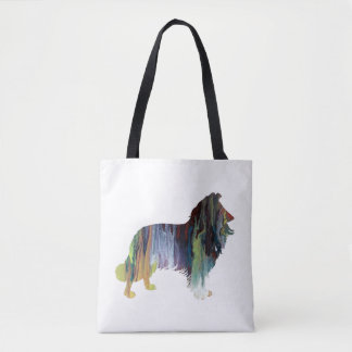 Collie Art Tote Bag