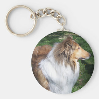 COLLIE BASIC ROUND BUTTON KEY RING