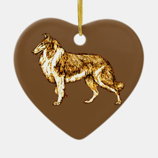 Collie Ceramic Ornament