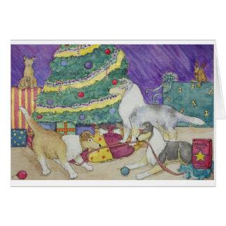 Collie Christmas Card