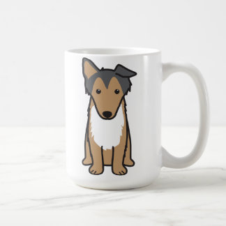 Collie Dog Cartoon Coffee Mug