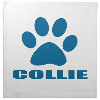 COLLIE DOG DESIGNS NAPKIN