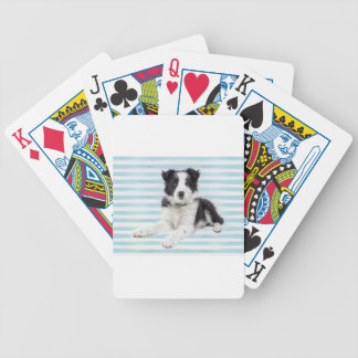 Collie Dog Pup Bicycle Playing Cards