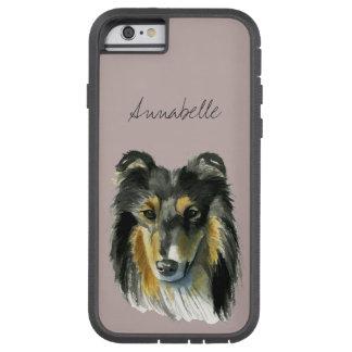 Collie Dog Watercolor Illustration Tough Xtreme iPhone 6 Case
