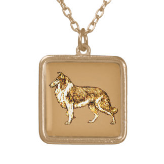 Collie Gold Plated Necklace