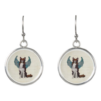 COLLIE GUARDIAN ANGEL EARRINGS