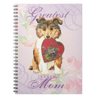 Collie Heart Mom Spiral Notebooks