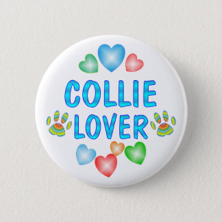 COLLIE LOVER 6 CM ROUND BADGE