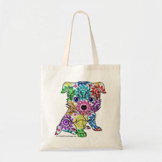 Collie Puppy Tote Bag