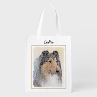 Collie (Rough) Reusable Grocery Bag