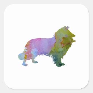 Collie Square Sticker