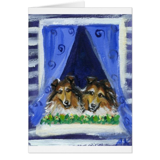 Collie window card