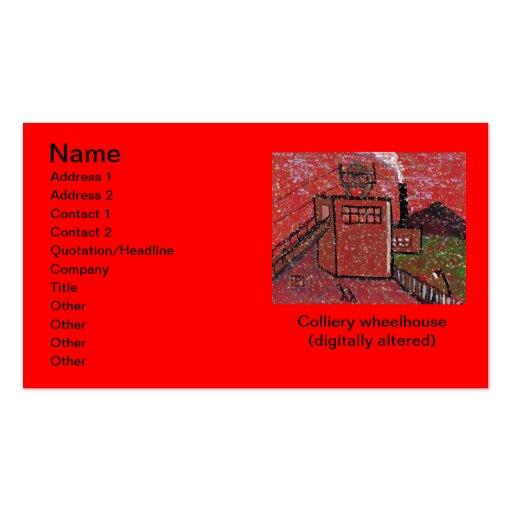 Colliery wheelhouse (digitally altered) Business C Business Card