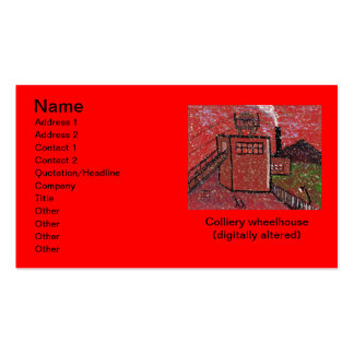 Colliery wheelhouse (digitally altered) Business C Pack Of Standard Business Cards