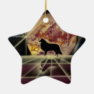 Collie's Crystal Lake Ceramic Star Decoration