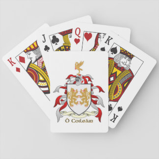 Collins Family Crest Heraldry Playing Cards