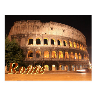 Colloseum in Rome Postcard