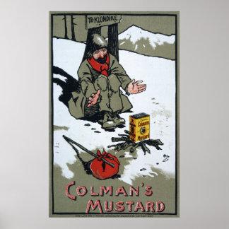 Colman's warming mustard, 1900 poster