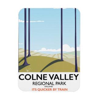 Colne Valley Regional Park England rail poster Rectangular Photo Magnet