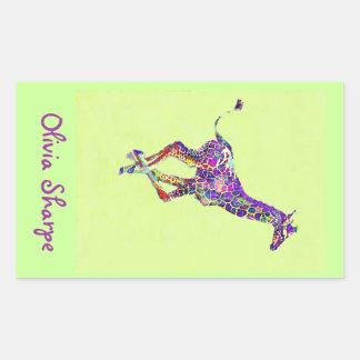 coloful baby giraffe sticker