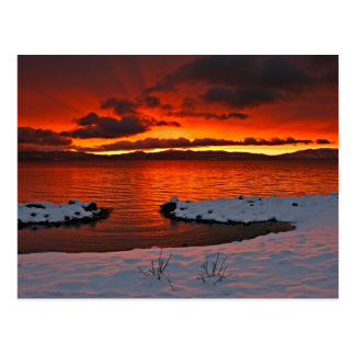 Coloful Lake Tahoe Sunrise... Postcard