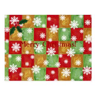 Coloful Mosaic and Snowflake Christmas Cards